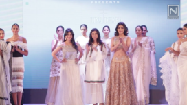 Ruhi Singh & Harshika Poonacha for Rina Dhaka at Bangalore Times Fashion Week 2018