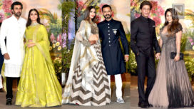 Celebrity Looks at the Grand Reception Party of Sonam Kapoor and Anand Ahuja