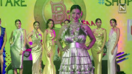 Tia Bajpai Walks Down the Ramp at the Launch of a Fashion Brand