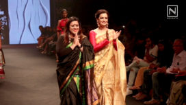 Dia Mirza Talks About her Sari and Walking at Lakme Fashion Week Summer Resort 2018