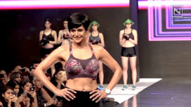 Mandira Bedi Walks the Ramp at the Launch of Sportswear Lingerie Edition for a Brand