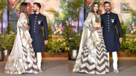 Sonam Kapoor and Anand Ahuja Look Adorable at their Reception Party