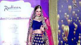 Yuvika Chaudhary Walks the Ramp as a Bride for a Wedding Show Exhibition