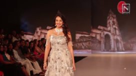Nikhita Narayana Walks for Ashok Maanay at Bangalore Times Fashion Week 2018