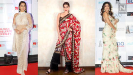 Bollywood Celebrities Make a Statement in These Starry Saris