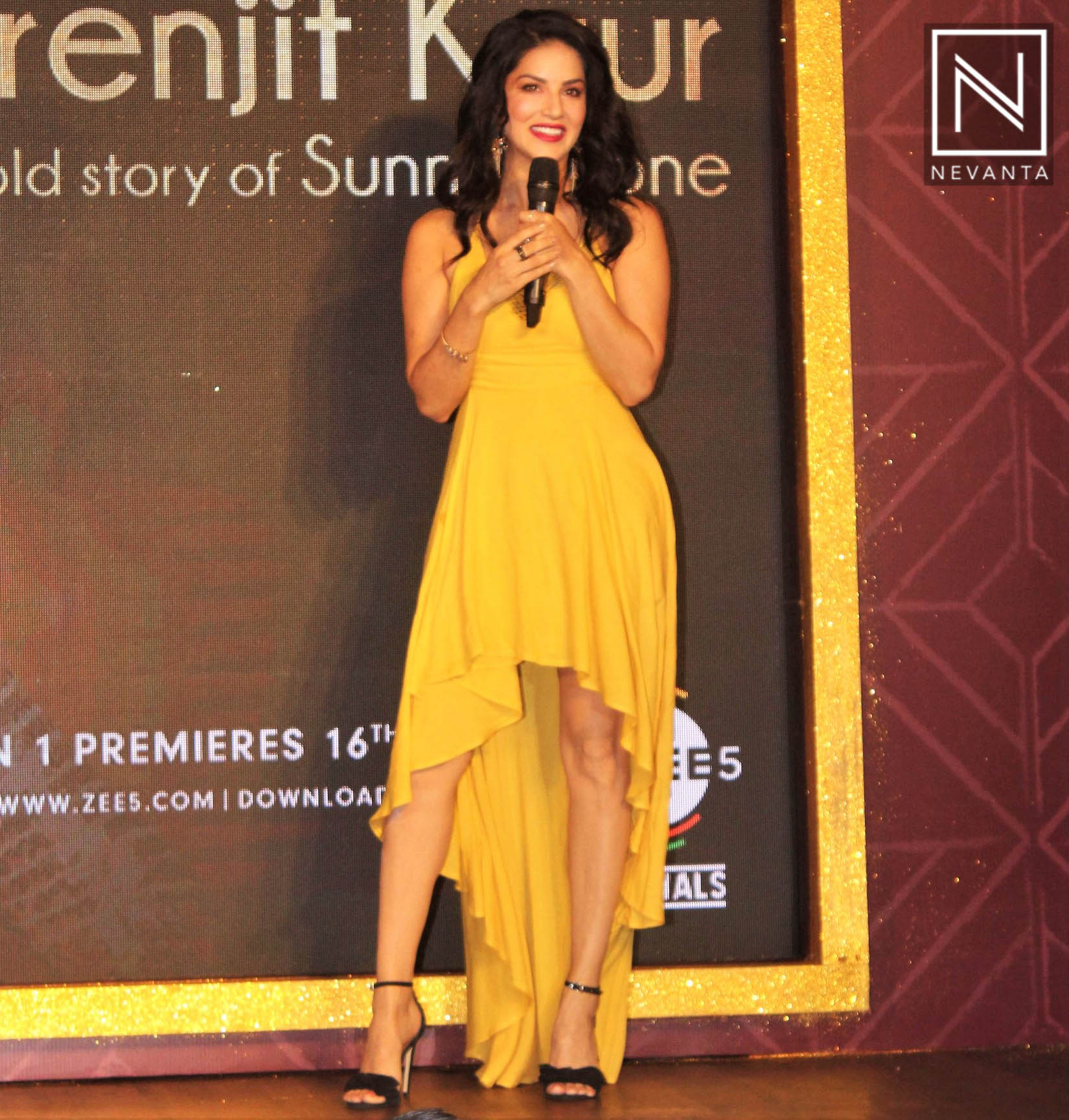Image result for sunny leone gold dress