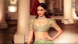 Kiara Advani Walks for Shyamal & Bhumika on Day 4 at India Couture Week 2018