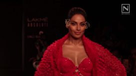 Bipasha Basu Turns Showstopper for Ruceru at Lakme Fashion Week WF18