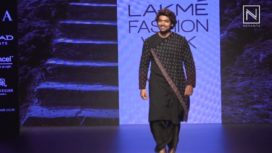 Gurmeet Choudhary Walks for Soumodeep Dutta at Lakme Fashion Week WF18