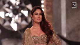 Kareena Kapoor Shines in Gold for Falguni Shane Peacock at India Couture Week 2018