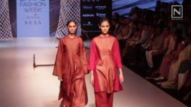 Jewellyn Alvares and Saloni Sakaria for Khadi Village at Lakme Fashion Week WF 2018