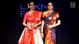 Esha Deol and Hema Malini Spread Magic at Lakme Fashion Week WF18 for Sanjukta Dutta