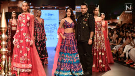 Janhvi Kapoor Sashays on the Ramp for Nachiket Barve at Lakme Fashion Week WF 2018