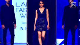 Kangana Ranaut Impresses as Muse for Pankaj and Nidhi at Lakme Fashion Week WF18