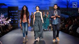 Kriti Kharbanda Amazes as a Showstopper for Tahweave at Lakme Fashion Week WF18