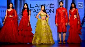 Malaika Arora Stuns as Showstopper for Anushree Reddy at Lakme Fashion Week WF 2018