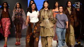 Shruti Haasan Walks for Saaksha and Kinni at Lakme Fashion Week Winter Festive 2018