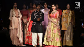 Sophie Choudry Bedazzles as a Showstopper for Arvind Ampula at Lakme Fashion Week WF18