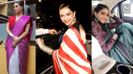 7 Bollywood Celebrities Who are Totally Rocking the Striped Saris