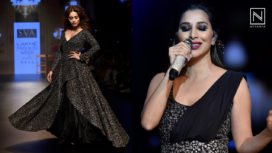 Nushrat Bharucha Bedazzles for SVA Couture at Lakme Fashion Week WF18 with Sophie Choudry