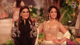 Reynu Taandon Showcases with Yami Gautam as Showstopper at India Couture Week 2018