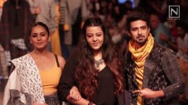 Huma Qureshi & Saqib Saleem Walk for Anvita Sharma at Lakme Fashion Week WF18