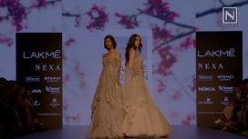 Kaleidoscopic Lehengas and Persian Ensembles on Day 4 at Lakme Fashion Week WF18