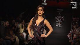Neha Sharma Sports Gothic Look for Sita Mikhail at Lakme Fashion Week WF18