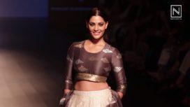 Saiyami Kher Looks Flamboyant as the Showstopper for Vineet Rahul at Lakme Fashion Week WF18