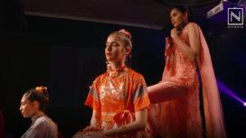 Vibrant Colours of Rangoli by Yogesh Chaudhary at Lakme Fashion Week Winter Festive 2018