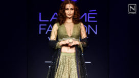 Elli Avram Beautifully Walks for Etika Bhandari at Lakme Fashion Week Winter Festive 2018
