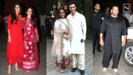 Bollywood Celebs at Arpita Khan's Ganpati Celebrations at her House