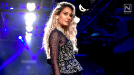 Lisa Haydon Turns Perfect Muse for Mishru at Lakme Fashion Week Winter Festive 2018