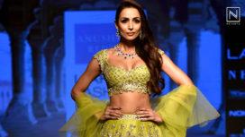 Malaika Arora Stuns as a Showstopper for Anushree Reddy at Lakme Fashion Week WF18