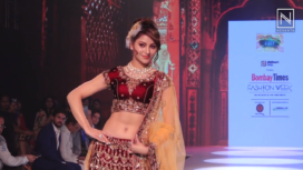 Urvashi Rautela Walks for Masuuma Namjoshi at Bombay Times Fashion Week 2018