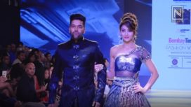 Urvashi Rautela and Guru Randhawa Walk for Nivedita Saboo at Bombay Times Fashion Week 2018