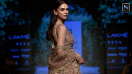 Aditi Rao Hydari Bedazzles as Showstopper for Jayanti Reddy at Lakme Fashion Week WF18