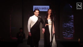 Arbaaz Khan and Giorgia Andriani Walk for Archana Kochhar at Phoenix Fashion Night