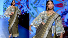 Gauahar Khan Walks for Prreeti Jaiin Nainutia at Lotus Makeup India Fashion Week SS19