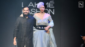 Kalki Koechlin Walks for Fusion Wear Collection by Gaurav Katta at Lakme Fashion Week WF18