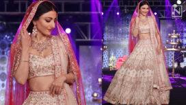 Soha Ali Khan Walks as a Bride for Bindani at the Wedding Junction 2018