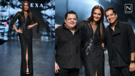 Sonakshi Sinha Turns Muse to Rohit Gandhi Rahul Khanna at Lotus Makeup India Fashion Week SS19