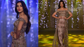 Sonal Chauhan Walks the Ramp for Sneha Parekh at the Wedding Junction 2018