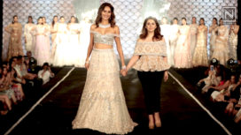 Ujjwala Raut Glides the Ramp as a Showstopper for Cherie D at the Wedding Junction 2018