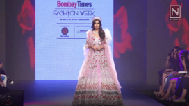 Miss Diva Supranational 2018 Aditi Hundia for Pallavi Madhesia at Bombay Times Fashion Week 2018