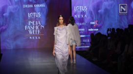 Diksha Khanna Showcases the Escapists at Lotus Makeup India Fashion Week SS19