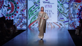 Gauahar Khan Walks for Prreeti Jain at Lotus Makeup India Fashion Week SS19