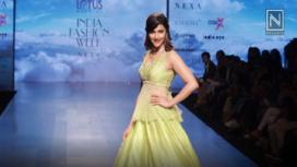Prachi Desai Walks for Architha Narayanam at Lotus Makeup India Fashion Week SS19