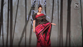 Tabu Makes a Statement as Sanjukta Dutta's Showstopper at Lotus Makeup India Fashion Week SS19
