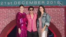 Shahrukh Khan, Anushka Sharma & Katrina Kaif at Zero Trailer Launch